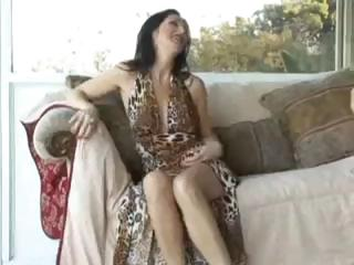 Hawt brunette MILF sucks and fucks and gets a messy creampie