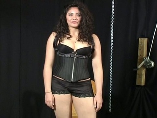 Bondage audition for plumper latin chick chick