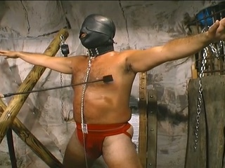 Slave receives badly abused by his dom