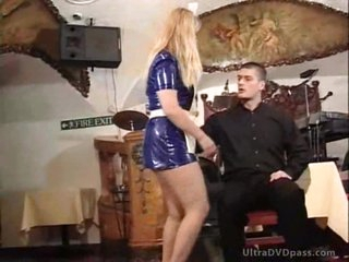 Golden-haired Cougars Get Their Asses Spanked By Juvenile Stud With a S&m Paddle