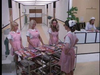Perverted Retro Nurse Cris Cassidy Receives Facialized Twice
