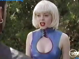 Rose McGowan On a Weird, Yet Hawt Outfit