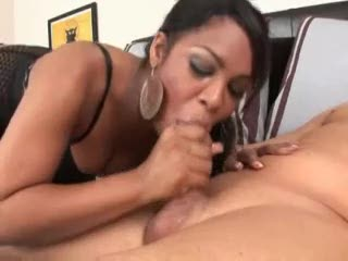 Black girl messy deepthroat of white ramrod