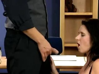 His office is her place to acquire fucked