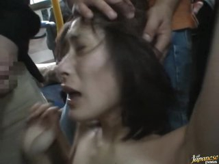Abusing a Hot Asian in The Bus