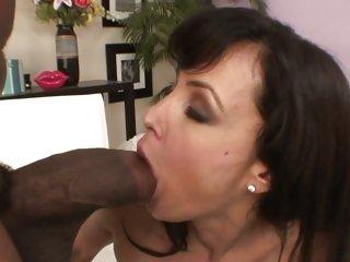 Black dick lover Lisa Ann enjoys a hard pussy fucking