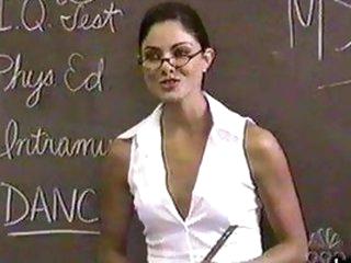Stunning Dark brown Babe Larissa Meek In a Super Hot Teacher Role