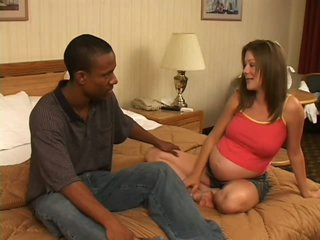 Horny Pregnant Babe in Interracial Fuck