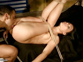 Honey Deamon getting bound up and screwed and loving every minute of it