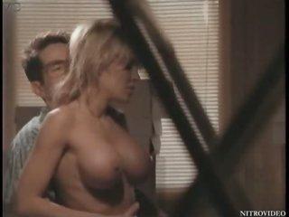 Super Breasty Julia Kruis Gets Fucked On a Desk - Softcore Sex Scene