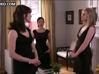 Bonnie Somerville & Three Hot Girls in Hot Dark Dresses