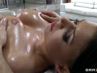 Sizzling Eva Angelina acquires her massive tits massaged