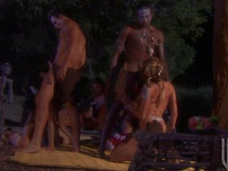 Horny Big Breasted Aborigines Get Drilled In Group Sex Orgy