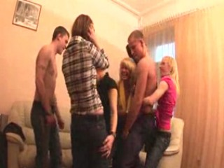 Russian students having sex party
