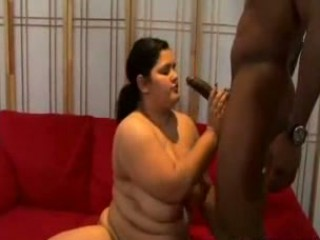 Naughty fat chick takes hard cock