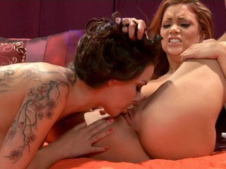 Sexy women Natalia Cruze and Jayden Cole tease and play