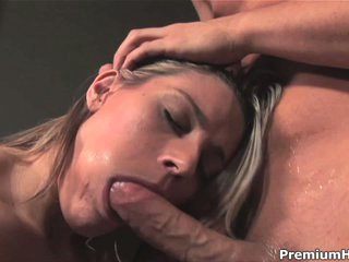 Megan Joy gets face fucked before eating cum