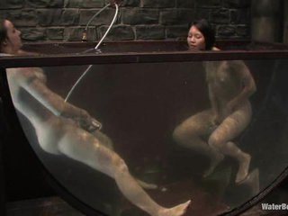 Twisted, nasty sluts fuck every other in an exotic underwater scene