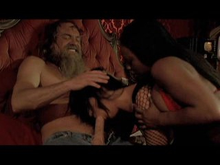Jada Fire and Sandra Romain having oral-sex pleasure with a lucky hippie