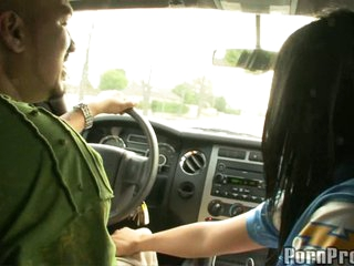 Jackie Daniels dirty slut in a car with a stranger