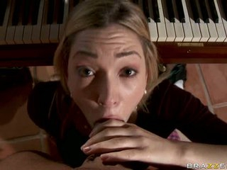 Lily Luvs take piano professor cock into her throat