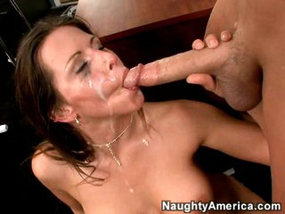 Slutty Rachel Roxx gets rocked by a immodest load of spunk juice