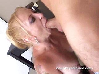 A huge throbbing dick receives slammed down Lexi Bardot's mouth