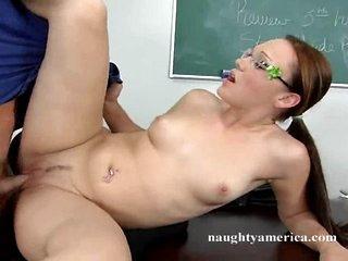 Kristal Jordan gets screwed snatch in a ahrd desk by hard cock