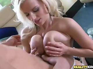 Great sex with big titted blonde Haley Cummings