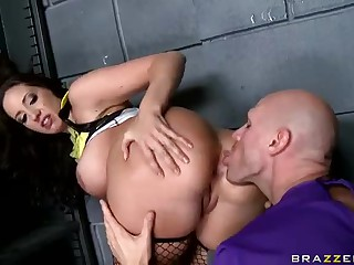 It is easy for curvy brunette Kelly Divine to seduce men into fucking with her big butt and big tits. She bends over for Johnny Sins to get her asshole licked and her pussy banged. He loves this juicy slut.