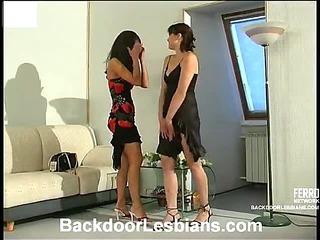 Antoinette&Mirabel naughty anal lesbian video