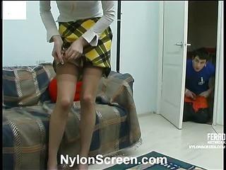 Ninette&Vitas nylon couple in action