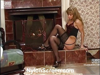 Diana&Lesley naughty nylon movie
