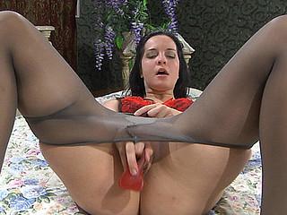 Mabel posing in hose