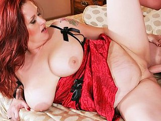 Plumper Staci Stacked is filled with warm cum.