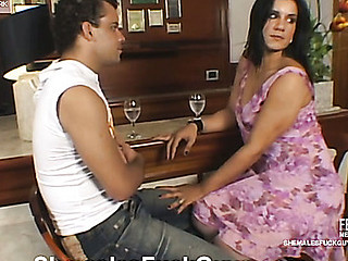 Aline&Sandro ladyboy copulates dude action
