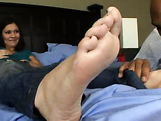 Adriana is frustrated: that babe paid for a foot massage but left feeling a bit underneath whelmed. Luckily, her boyfriend Justin has the ideal prescription for her woes: penis massage. A generous dose of pecker applied directly to her troubled size 7s do