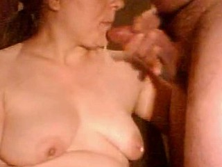 Mature sloppy blowjob
