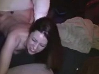 Brunette girlfriend's ozing hot ass