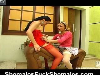 Mylena&Kalena hawt shemales on movie scene