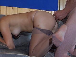 Gloria&Tobias raunchy nylon footsex