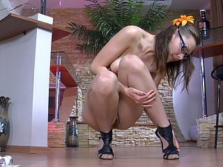 Katharine B nylon feet action