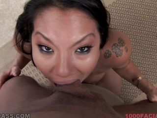 asian chick gets full load
