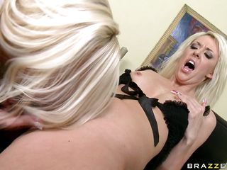 hot blondes playing with plastic cock
