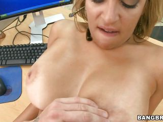 wild fuck at the office with a voluptuous horny blonde
