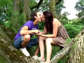 Stunning legal age teenager sex in nature