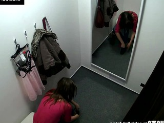 Beautiful Czech Legal Age Teenager Snooped in Changing Room!