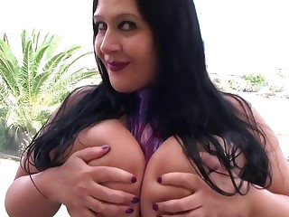 Transparent Latex Big Tits - Dirty Blowjob Handjob with Long Purple Nails - Cum in my Mouth