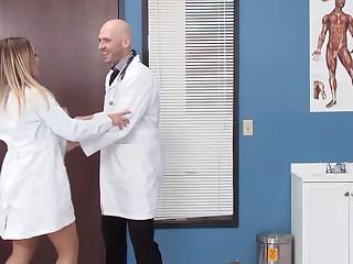 Hot doctors spend their break fucking in an exam room