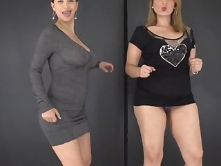 2 girls lactating breasts -No pussy